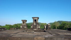 Temple sur le composé de palais de boko de ratu Photographie stock