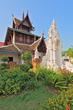 The temple is surrounded with fine tropical park Royalty Free Stock Images
