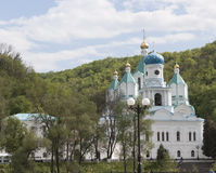Temple Svyatogorsk monastery Stock Images