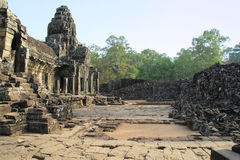 Temple Ta Phrom in Cambodia Stock Photos