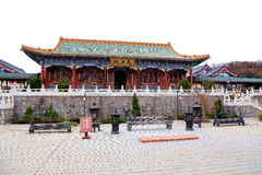 The temple of  Tainmem mountain in Zhangjiajie city Royalty Free Stock Photo