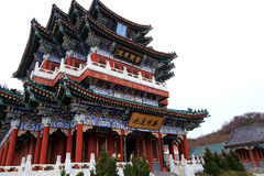 The temple of  Tainmem mountain in Zhangjiajie city Stock Images