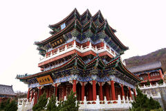 The temple of  Tainmem mountain in Zhangjiajie city Royalty Free Stock Photography