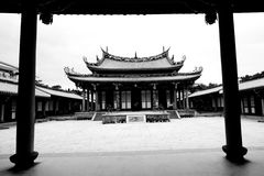 Temple Taiwan courtyard garden Royalty Free Stock Images