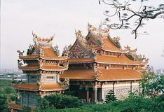 Temple Taiwan. By film camera Stock Photos