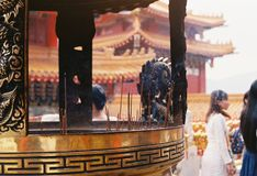 Temple Taiwan. By film camera Stock Photography