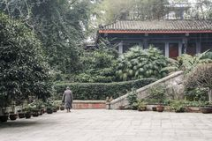 The temple in Mount Emei,China Stock Photo