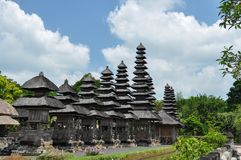 Temple Taman Ayun sur Bali image libre de droits