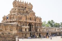 Temple Tami Nadu India de Tanjore Image libre de droits