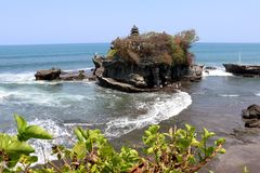 Temple tanah lot - Bali Indonesia Asia royalty free stock photography