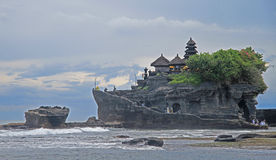 Temple Tanh Lot on indonesian island Bali Royalty Free Stock Photos