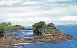 Temple Tanh Lot on indonesian island Bali Stock Image