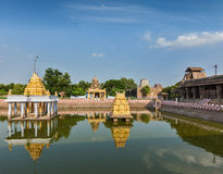 Temple tank of Hindu temple, India Royalty Free Stock Photo