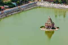 Temple Tank of Lord Bhakthavatsaleswarar Coil Royalty Free Stock Image