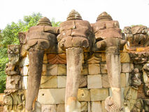 The Temple Terrace of Elephants in the Angkor near the City Siem Royalty Free Stock Photo