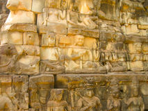 The Temple Terrace of Elephants in the Angkor near the City Siem Riep in the west Cambodia. Stock Photos
