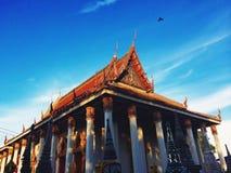 Temple thaï Ayuttaya, Thaïlande Images libres de droits