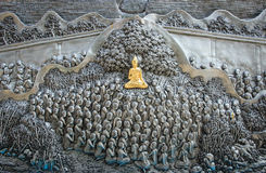 Temple thaï d'art Image libre de droits