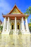 Temple thaïlandais blanc, Bangkok, Thaïlande Photographie stock