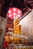 Temple thaïlandais de statue de Bouddha images libres de droits