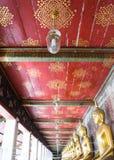 Temple thaïlandais de vieux plafond Photographie stock libre de droits