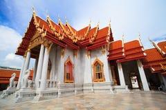 Temple thaïlandais fait en marbal Photographie stock