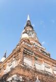 Temple thaïlandais Watyaichaimongkol Photographie stock