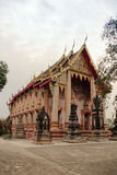 Temple. With thai architecture and painting at ayutthaya province, Thailand stock images