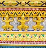 Temple Thai in bangkok. Pattern Temple Thai in bangkok Stock Photo