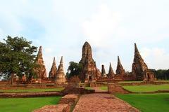 Temple Thai. Famous sky asian landmark beautiful temple blue religion historical brick religious building stone spiritual Stock Image