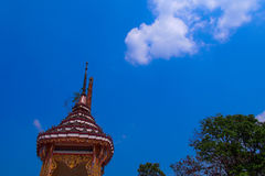 Temple in thai. A funeral in Thailand Stock Photo