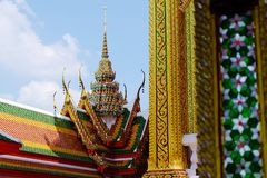 Temple thai. And sky is beautyfuln Stock Image