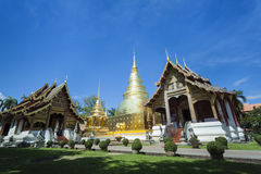 The temple thai stlye with blue sky Royalty Free Stock Images