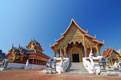 Temple thailand. Beautiful art in temple of thailand Stock Photo