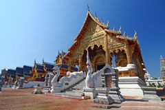 Temple of thailand. Beautiful art in temple of thailand Royalty Free Stock Photography