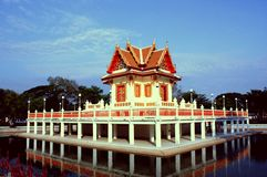 Temple in Thailand. Beautiful Thai Temple. Marble Temple Stock Photography