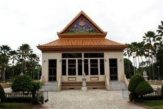 Temple in Thailand. Beautiful Thai Temple. Yannasangwararam Worawiharn temple Stock Image