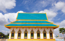 Temple in thailand on the blue sky background Royalty Free Stock Photography