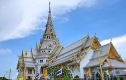 The temple in Thailand. The temple in Chachoengsao Province, Thailand. Located in the Municipality of Mueang Chachoengsao alongside the Bang Pakong River Royalty Free Stock Images