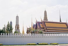 Temple in Thailand. By film camera Royalty Free Stock Photography