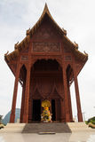 Temple in Thailand. Large wooden temple is worshiping Royalty Free Stock Photos