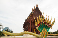 Temple in Thailand. Large wooden temple is worshiping Royalty Free Stock Photography