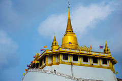 Temple of thailand. Temple on Mountain in Bangkok Thailand Royalty Free Stock Image