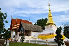 Temple in Thailand is named Phra-that-Kham-Kaen Stock Photography