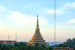 Temple in Thailand is named Phra-Mahathat-Kaen-Nakhon Stock Image