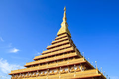 Temple in Thailand is named Phra-Mahathat-Kaen-Nakhon Royalty Free Stock Photography