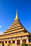 Temple in Thailand is named Phra-Mahathat-Kaen-Nakhon Royalty Free Stock Photo