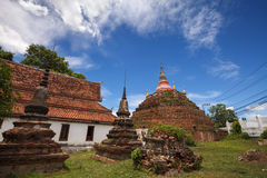 Temple in Thailand is named Wat Ratchaburana,Phitsanulok Stock Photo