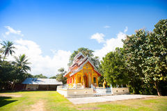 Temple in Thailand near Mae Hon Song Royalty Free Stock Photography