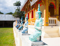 Temple in Thailand near Mae Hon Song Royalty Free Stock Photos